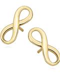 Aros Símbolo de Infinito - Plata 925 Enchapado en Oro