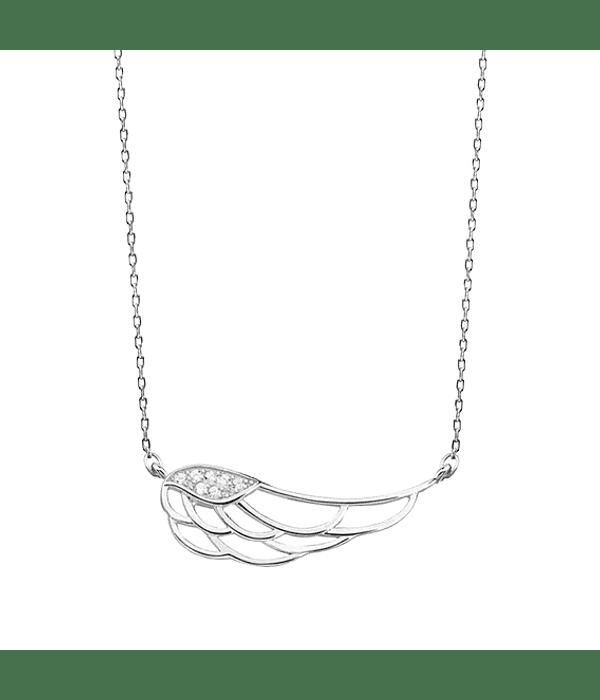 Collar Ala de Angel -  Plata 925 Zirconia