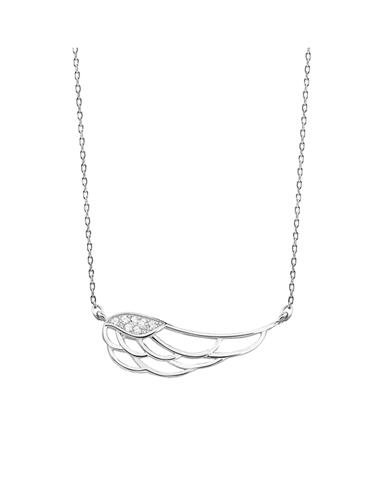 Collar Ala de Angel -  Plata 925 Zirconia