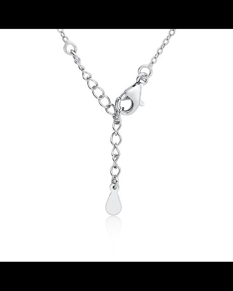 Collar Punto de Luz - Lágrima - Plata 925 con Zirconia Grande
