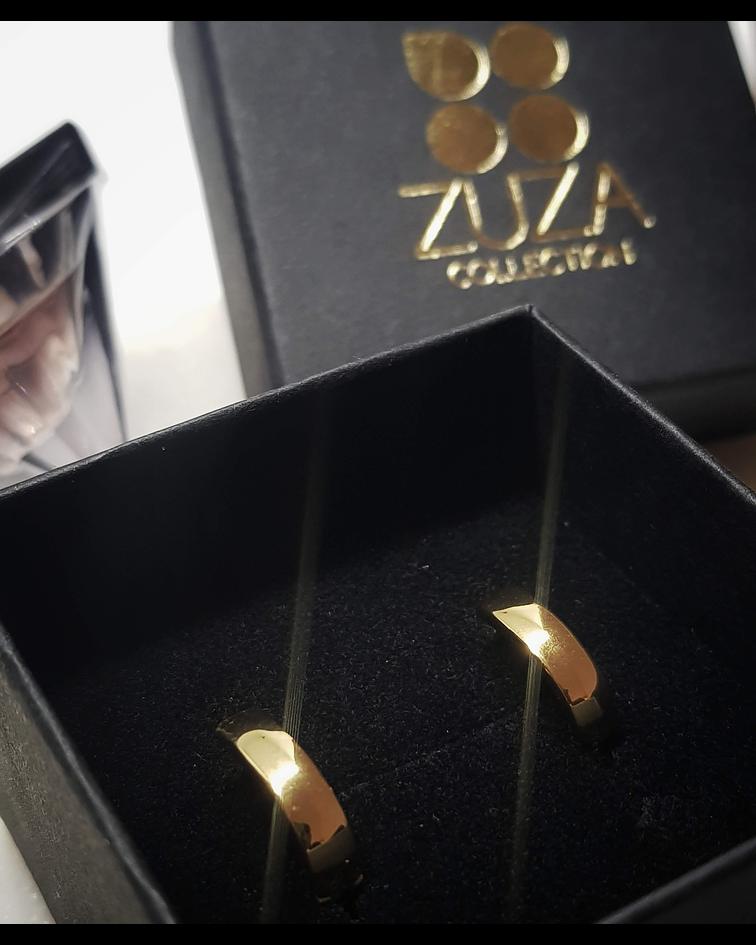 Aros Gina - Plata 925 Sterling Chapado en Oro