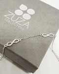 Pulsera con Tres Símbolos de Infinito - Plata 925 con Zirconia