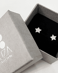 Aros Estrella - Plata 925 con Zirconia