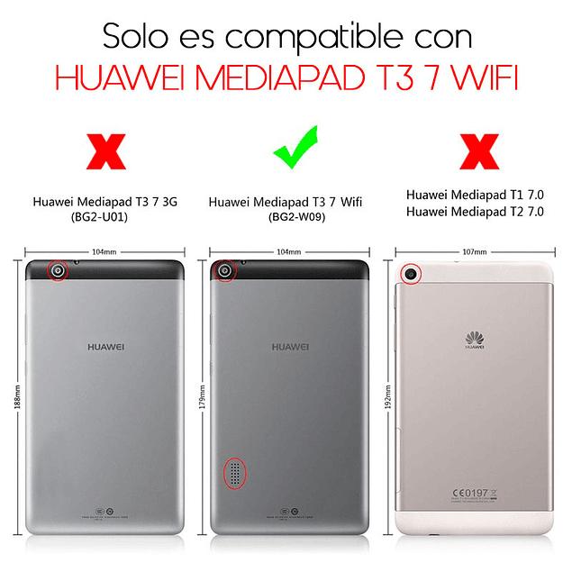 Funda Giratoria 360 Morado Huawei Mediapad T3 7