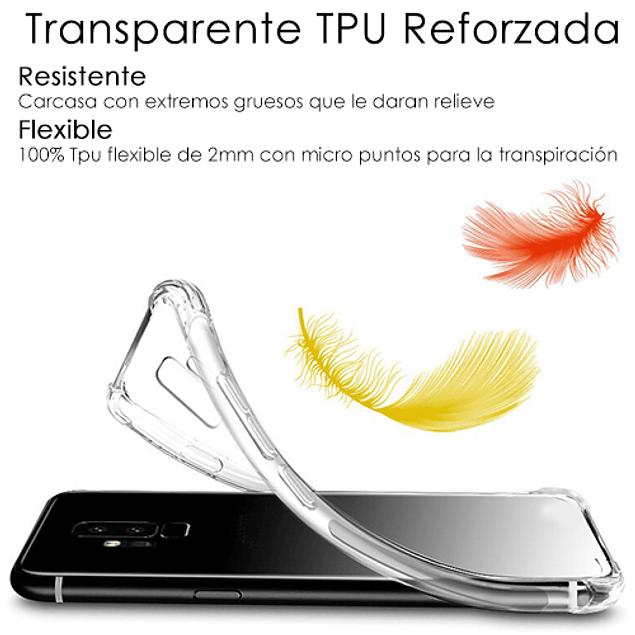 Pack Carcasa Transparente Reforzada TPU + Mica Vidrio Samsung Galaxy A20s