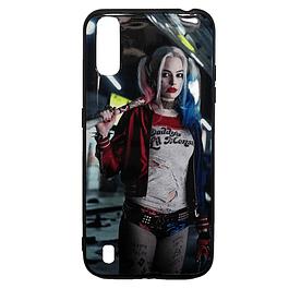 Carcasa Harley Quinn (fondo azul) Galaxy A01