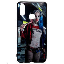 Carcasa Harley Quinn (fondo azul) Galaxy A10s