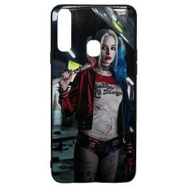 Carcasa Harley Quinn (fondo azul) Galaxy A20s