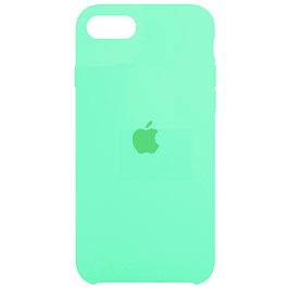 Carcasa Menta Silicona Logo iPhone SE 2020 y iPhone 7/8