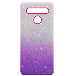 Carcasa Brillante Glitter Violeta Degradado LG K41s K51s