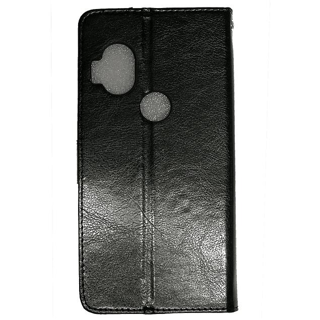 Carcasa Flipcover Negro Premium Moto One Hyper