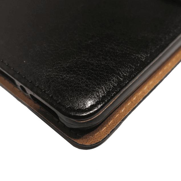 Carcasa Flipcover Negro Premium Moto One Macro