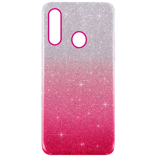 Carcasa Brillante Glitter Fucsia Degradado Samsung Galaxy A20s