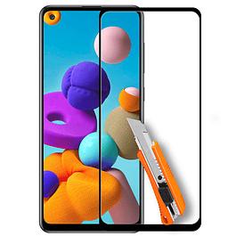 Lámina Mica Vidrio Templado Completo Full Samsung Galaxy A21s