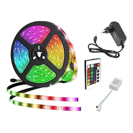 Cinta Led multicolor control remoto 5050 5mts