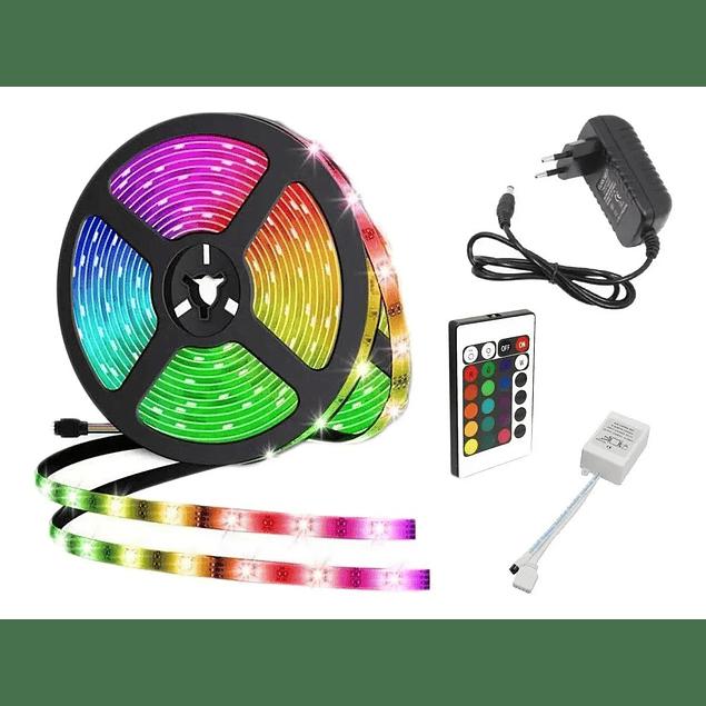 Cinta Led multicolor control remoto 5050 5mts