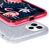 Carcasa Brillante Glitter Fucsia Degradado Xiaomi Redmi 9C