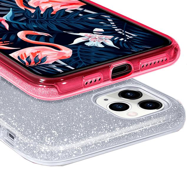 Carcasa Brillante Glitter Violeta Degradado Xiaomi Redmi 9A