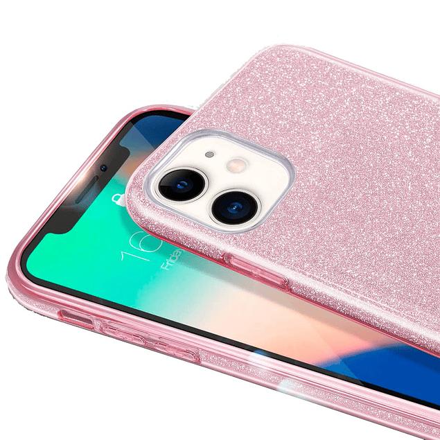 Carcasa Brillante Glitter Violeta Degradado Huawei Y7 2019