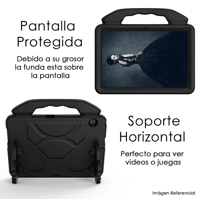 Funda Carcasa Niños Anti Golpes Negro iPad 10.2