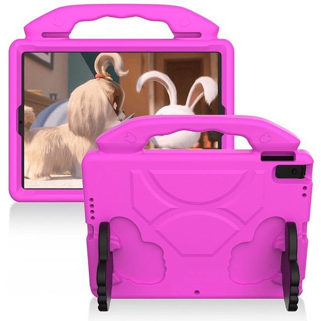 Funda Carcasa Niños Anti Golpes Fucsia iPad 10.2