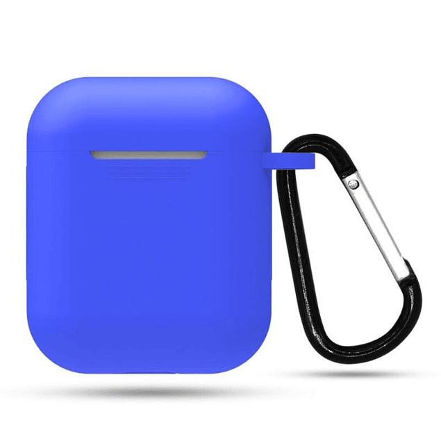 Carcasa Protector Silicona Azul Airpods 1ra y 2da Generación