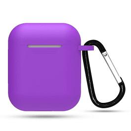 Carcasa Protector Silicona Violeta Airpods 1ra y 2da Generación