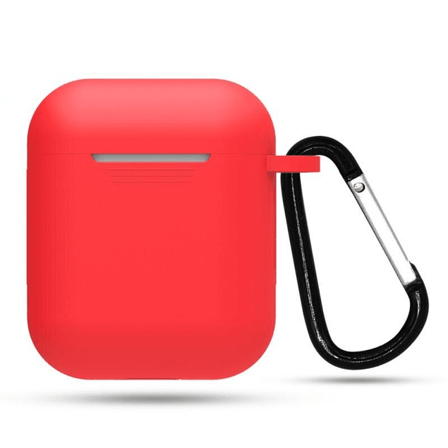 Carcasa Protector Silicona Rojo Airpods 1ra y 2da Generación