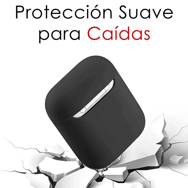Carcasa Protector Silicona Celeste Airpods 1ra y 2da Generación