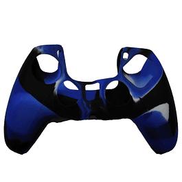Silicona Protector Azul Camuflado Control Ps5 Dualsense