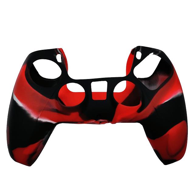 Silicona Protector Rojo Camuflado Control Ps5 Dualsense