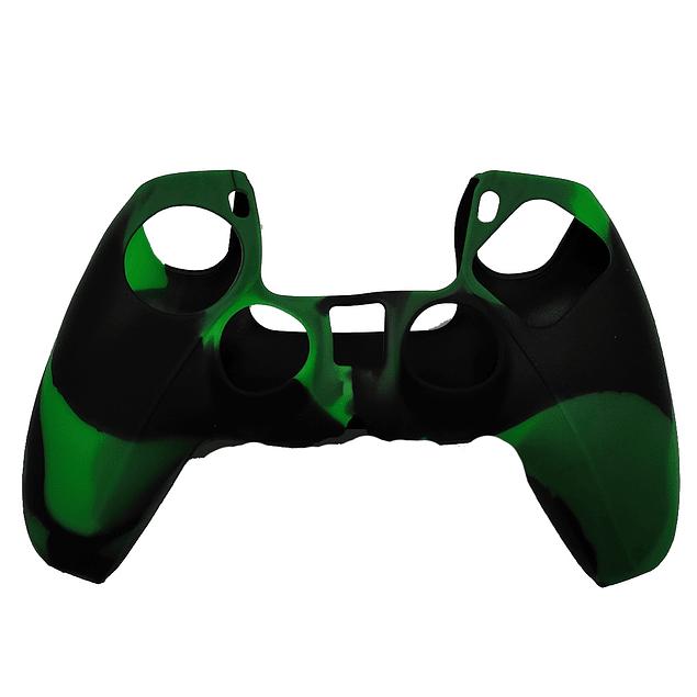 Silicona Protector Verde Camuflado Control Ps5 Dualsense