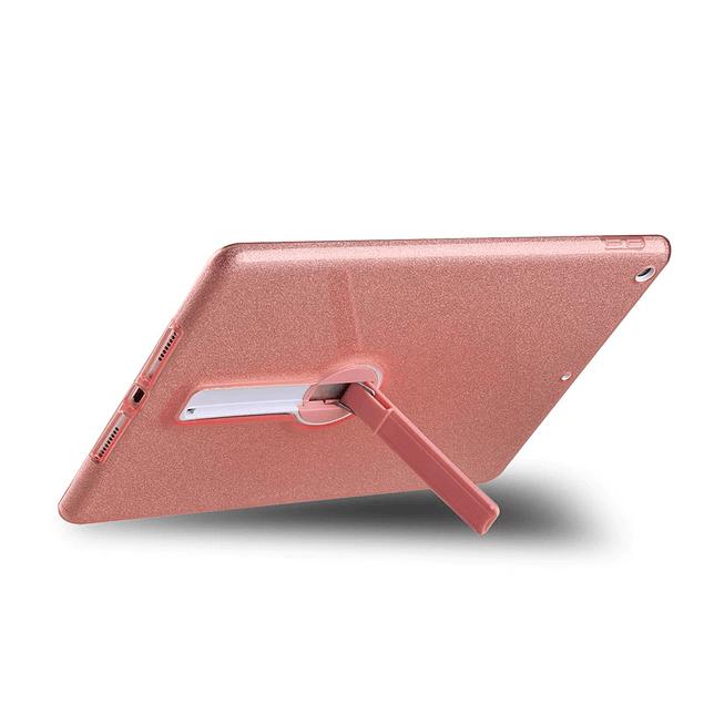 Carcasa Brillante Glitter Gris iPad 10.2 7ma y 8va Gen Con Soporte