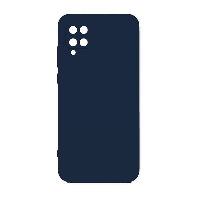 Carcasa Silicona Azul Marino Interior Suave Samsung Galaxy A12