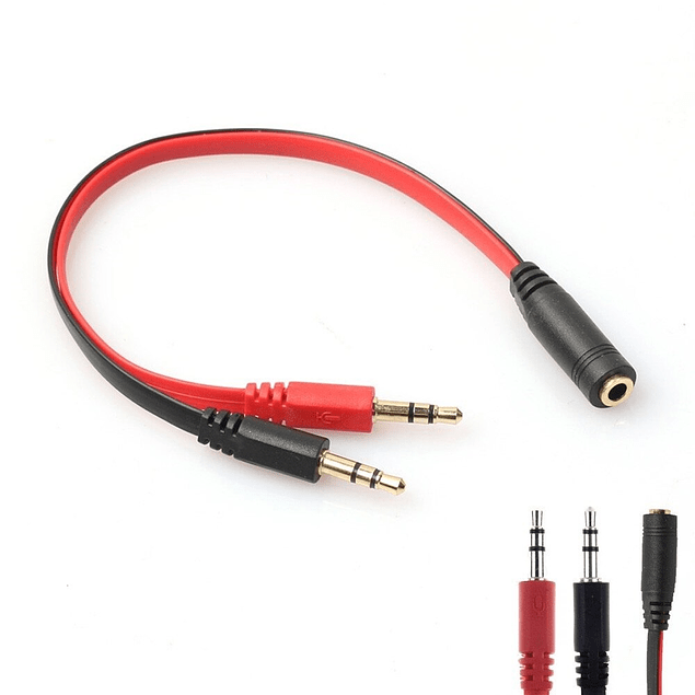 Splitter Adaptador Audio Mic Adaptador 3.5mm PS4 Xbox One PC