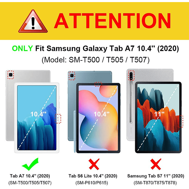Funda Estuche Dinosaurio Galaxy Tab A7 10.4 T500 T505