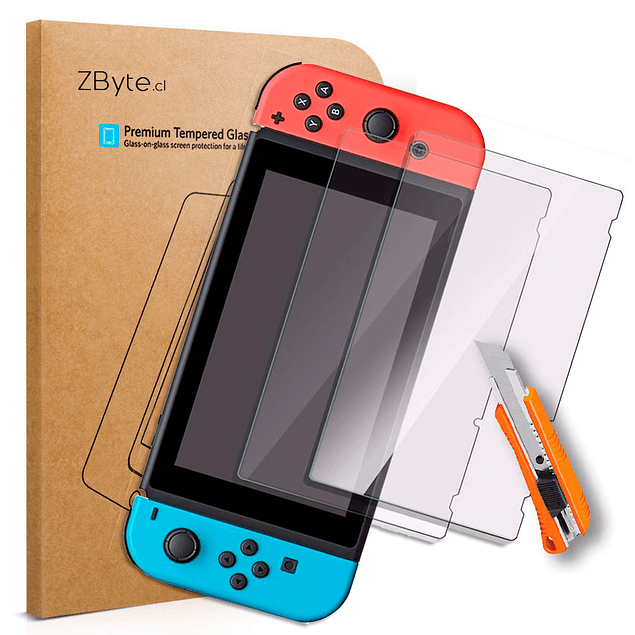 Pack x2 Vidrio templado Nintendo Switch