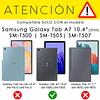 Funda Giratoria Rojo Galaxy Tab A7 10.4 T500 T505