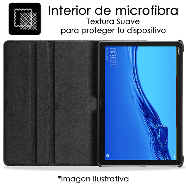 Funda Giratoria 360 Negro Huawei MediaPad T3 10 9.6