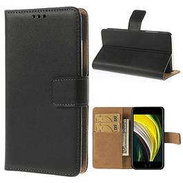 Carcasa Billetera Funda Flipcover Negro iPhone SE 2020 y iPhone 7/8