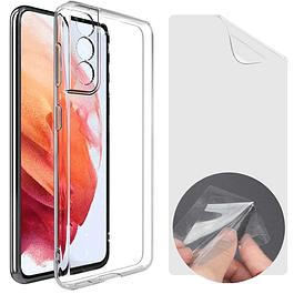 Lamina Mica Hidrogel + Carcasa Transparente Samsung S21 5G