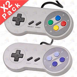Pack X2 Control Joystick Usb SNES Super Nintendo Pc Mac Android