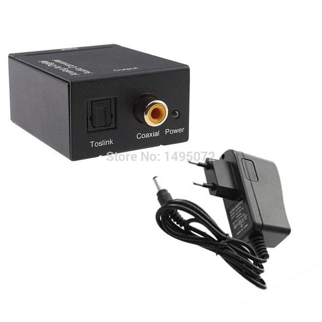 Conversor Adaptador De Audio Digital Óptico A Rca + Cable Óptico