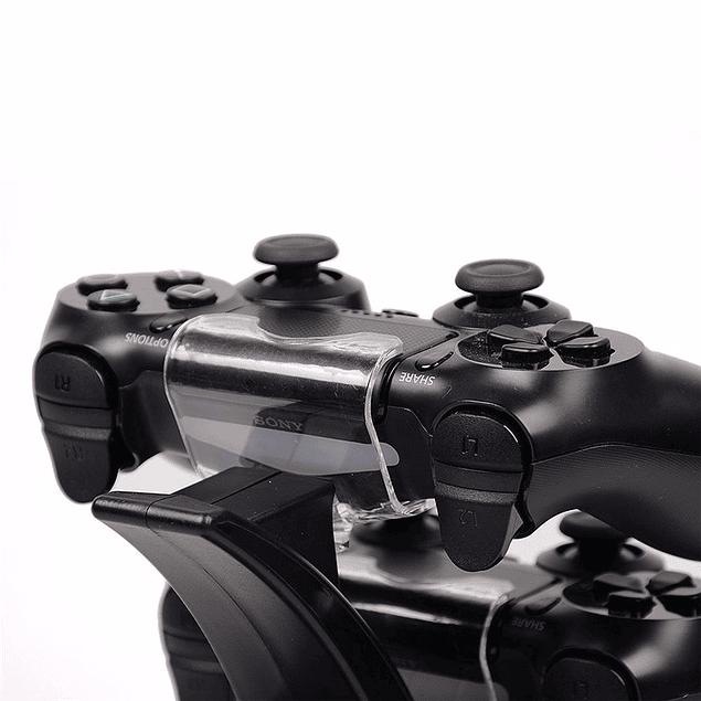 Dock de Carga Dual PS4 + Protector Silicona + Análogos