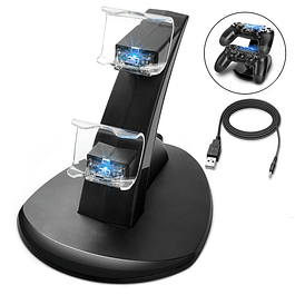 Dock Base de carga dual PS4 + Cable USB
