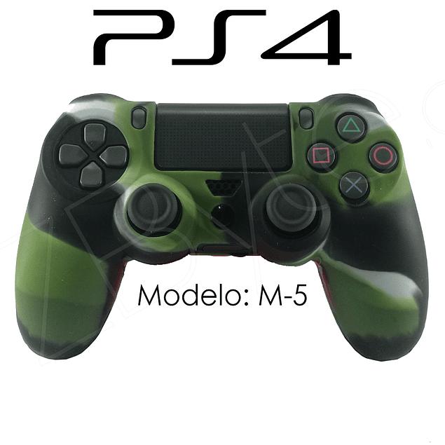 Silicona PS4 Modelo M5 + Análogos