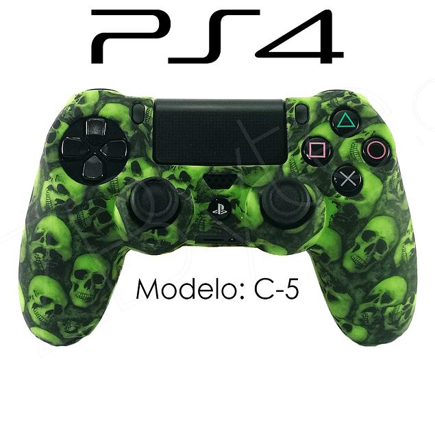 Silicona PS4 Calaveras Verde + Análogos