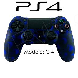 Silicona PS4 Calaveras Azul + Análogos