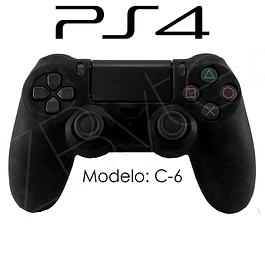Silicona PS4 Calaveras Negro + Análogos