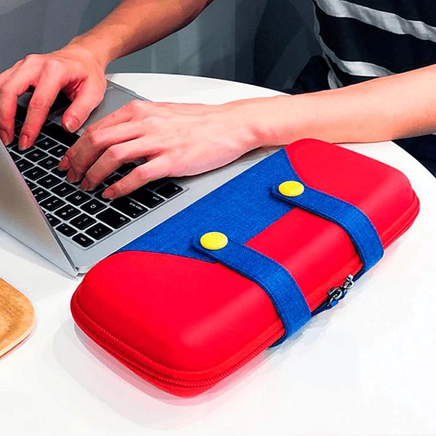 Funda Bolso Protector Jardinera Mario Nintendo Switch